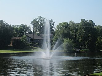 Cane River - Fountain in the historic Cane River in Natchitoches, Louisiana