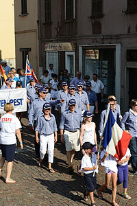 France during the opening parade 2012 Vintage Yachting Games.JPG