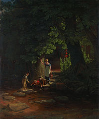 Children by a Brook