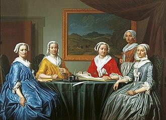 Regentesses of the Old Men's Almshouse - Image: Frans Decker Regentesses of the St. Elisabeth Gasthuis 1740 FHM01 OS 83 294