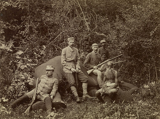 Franz Ferdinand Elephant hunter c1893