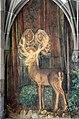 Fraumünster - Kreuzgang - Hildegard, Bodmer's Fresko der Gründungslegende 2014-03-05 16-22-14.JPG