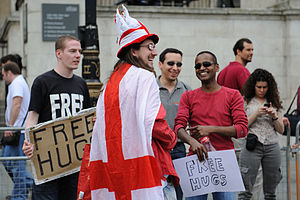 Free hugs on St.George's Day