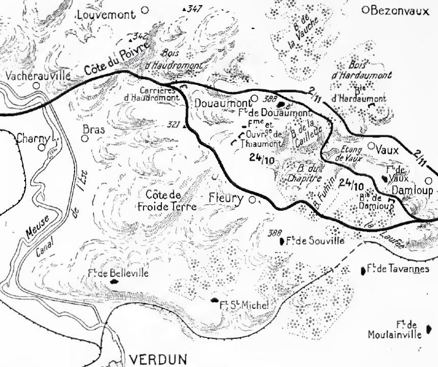 French counter-offensive at Verdun, 24 October 1916