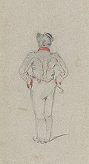 Study of a Standing Man from the Back