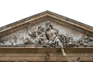 Jean-Pancrace Chastel - Sculpture on top of the former Corn Exchange in Aix-en-Provence
