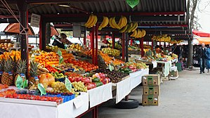 Ljubljana Central Market - Fruit stalls at the market