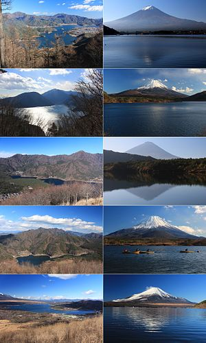 Fuji-Hakone-Izu National Park - Image: Fuji Five Lakes and Mount Fuji