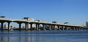 Fuller Warren Bridge - Image: Fuller Warren Bridge, Jacksonville FL 2 Panorama