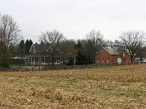National Register of Historic Places listings in Shelby County, Ohio - Image: Fulton Farm closeup