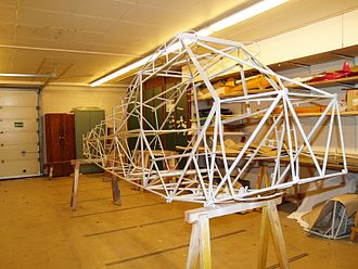 Fuselage - Piper PA-18 welded tube truss fuselage structure