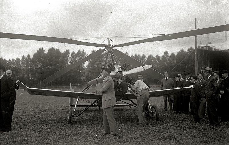 Prueba de vuelo del autogiro de Juan de la Cierva.