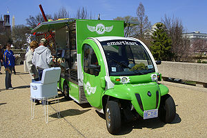 Neighborhood Electric Vehicle - A GEM xLXD NEV used by a street food vendor at the National Mall, Washington, D.C.