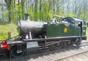 Battlefield Line Railway - GWR 2-6-2T Small Prairie Tank No. 5542 at Shackerstone Station