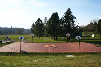 Gabriel Park - Basketball Courts inside the park
