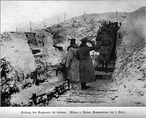 Guards Fusilier Regiment - The regiment in its position before the storming of Zwinin in February or March 1915