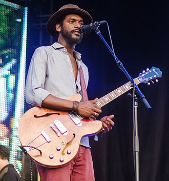 Gary Clark Jr. - Clark performing at the North Coast Music Festival in Chicago in 2013