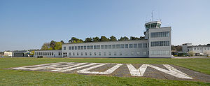 There Must Be an Angel (Playing with My Heart) - Image: Gatow Schriftzug auf Flugfeld (2009)
