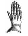 Gauntlet from the effigy of Ralph Neville, Earl of Westmoreland, Staindrop Church.png