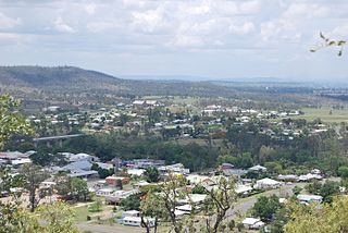 Gayndah Town in Queensland, Australia