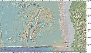 Gorda Ridge - Bathymetric image of the Gorda Ridge - Geomap