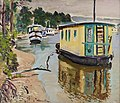 George Leslie Hunter (1877-1931), Houseboats, Balloch, 1931. Oil on canvas.jpg