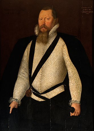George Talbot, 6th Earl of Shrewsbury - 1580 portrait of George Talbot, 6th Earl of Shrewsbury
