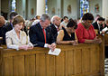 George W. Bush and Laura Bush pray at New Orleans' St. Louis Cathedral.jpg