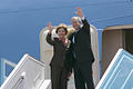 George and Laura Bush wave from Air Force One May 2008.jpg
