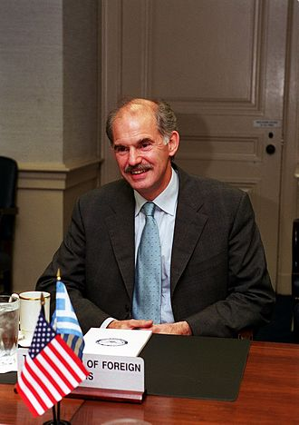 George Papandreou - Papandreou in 2001, as Minister of Foreign Affairs