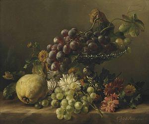 Gerardina Jacoba van de Sande Bakhuyzen - Image: Gerardine van de Sande Bakhuyzen Een kweepeer, paardebloemen, madeliefjes etc