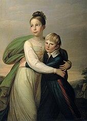 Prinz Albrecht und seine Schwester Prinzessin Luise (Gemälde von Gerhard von Kügelgen) (Quelle: Wikimedia)