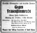 German Anti-Suffrage event ad in Sioux Falls, October 19, 1916.png