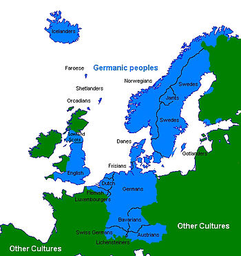 English: This is a map of the modern Germanani...