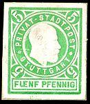 Germany Stuttgart 1889 local stamp 5pf - 19.jpg