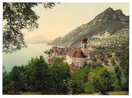 Gersau and Pilatus, Lake Lucerne, Switzerland-LCCN2001703085