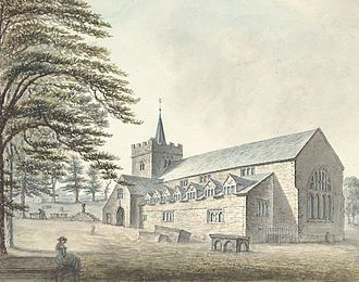 Guilsfield - Gillesfield church, 1796
