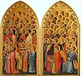 Giotto. Baroncelli Polyptych (right side) c.1334 Baroncelli Chapel, Santa Croce, Florence.jpg