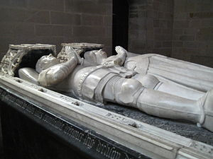 Effigy - Double tomb effigies — known as gisants —  in the Christian church of Josselin, France, 15th century