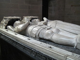 Effigy - Double tomb effigies or gisants, Josselin, France, 15th century