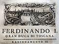 Giuseppe maria bianchini, Dei Granduchi di Toscana della real Casa De' Medici, per gio. battista recurti, venezia 1741, 13 ferdinando I, 4 pisa.jpg