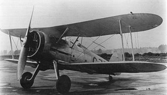 Gloster Gladiator - The first prototype Gladiator, with Gauntlet fuselage, G-37, later K5200. April 1935
