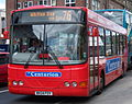 Go North East bus 8256 VDL SB120 Wright Cadet NK04 FOV Crusader livery in Newcastle 9 May 2009 pic 1.jpg