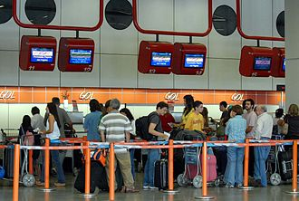Gol Transportes Aéreos - Gol ticket counter at Brasilia International Airport