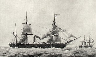 Bombardment of Salé - ''Gomer'', a steam frigate with 14 cannons