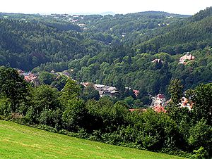 Bad Gottleuba-Berggießhübel - View into the Gottleuba valley near Gottleuba