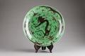 Grönt kinesiskt fat från 1662-1722 Kangxi, Qing-dynastin - Hallwylska museet - 95660.tif