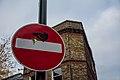 Graffiti in Shoreditch, London - Bird on a Stop Sign (11153979263).jpg