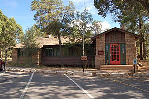 Grand Canyon Village Historic District - South Rim Post Office in Grand Canyon Village.