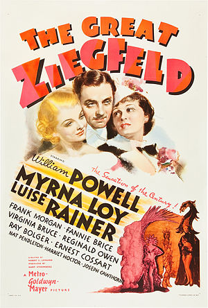 The Great Ziegfeld - theatrical release poster